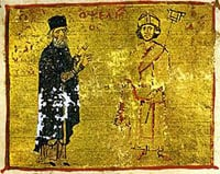 Michael Psellos and Byzantine Emperor, Michael VII Doukas.