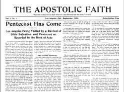 apostolic faith newspaper 1906