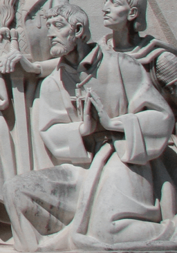 St. Francis Xavier depicted at the Padrão dos Descobrimentos. A monument celebrating the Portuguese age of exploration.