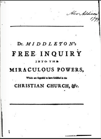 Cover of Free Inquiry by Conyers Middleton
