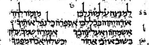 Psalm 9 Leningrad Codex