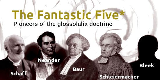 Image of the five pioneers of the glossolalia doctrine