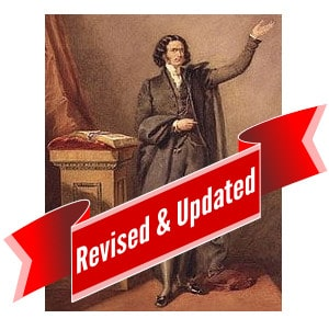 Edward Irving before a pulpit