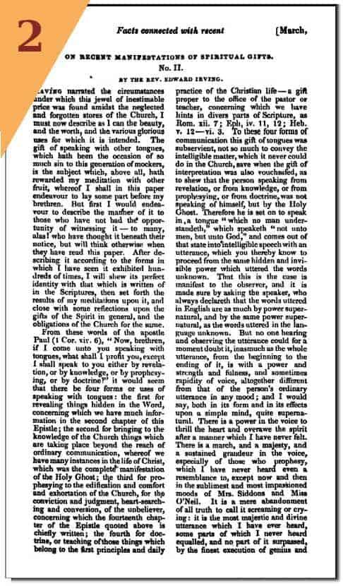 Irving's 2nd defense in Fraser's Magazine