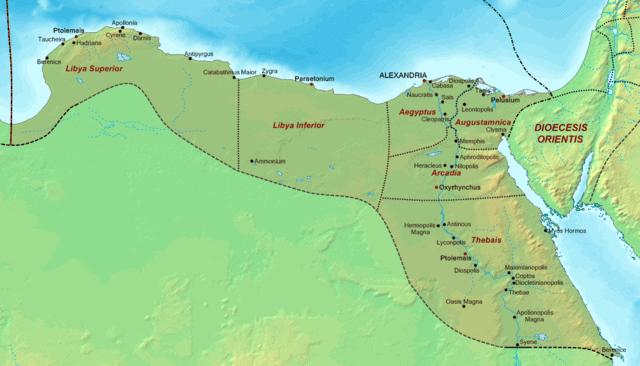 Map of Alexandrian church influence